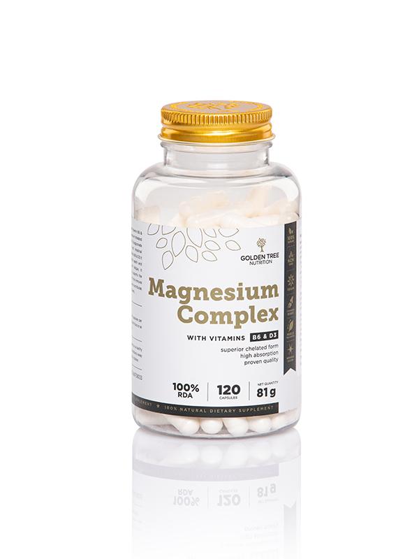 Golden Tree Magnesium Complex + vitamine B6 et vitamine D3